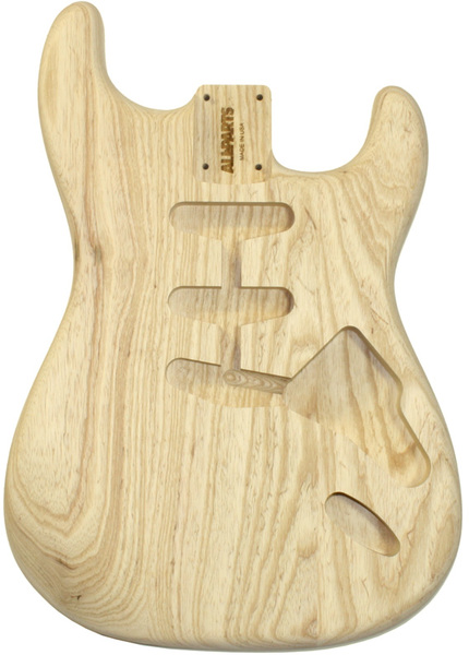 allparts electric guitar swamp ash unfinished replacement body for fender stratocaster style. Black Bedroom Furniture Sets. Home Design Ideas