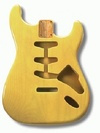 Allparts Electric Guitar Alder Replacement Body for Fender Stratocaster Style Guitars with SSS and Tremolo Routing (Blonde)