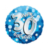 Anagram - 18 inch Holo Everts Foil Balloon - 30th Birthday - Blue Cover