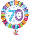 Anagram - 18 inch Circle Foil Balloon - Prismatic Radiant - 70th Birthday Cover