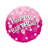 Anagram - 18 inch Holo Everts Foil Balloon - Birthday - Pink Cover