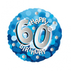 Anagram - 18 inch Holo Everts Foil Balloon - 60th Birthday - Blue Cover