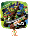 Anagram - 18 inch Square Foil Balloon - Teenage Mutant Ninja Turtles Birthday