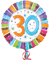 Anagram - 18 inch Circle Foil Balloon - Prismatic Radiant Birthday 30 - Cover