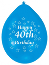 Amscan - Amscan Minipax Balloons - Happy 40th Birthday (Pack of 10) Cover