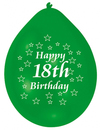 Amscan - Minipax Balloons - Happy 18th Birthday (Pack of 10)