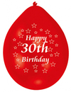 Amscan - Minipax Balloons - Happy 30th Birthday (Pack of 10) Cover