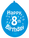 Amscan - Minipax Balloons - Happy 8th Birthday (Pack of 10) Cover