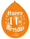Amscan - Amscan Minipax Balloons - Happy 11th Birthday (Pack of 10)