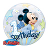 Qualatex - 22 inch Single Bubble Balloon - Mickey Mouse 1st Birthday