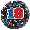 Simon Elvin - 18 inch Foil Balloon - 18th Birthday - Blue Cover