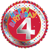 Creative Party - 18 inch Childrens Milestone Foil Balloon - Age 4