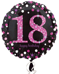 Anagram - 18 inch Circle Foil Balloon - Pink Celebration - 18th Birthday - Cover