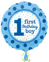 Anagram - 18 inch Circle Foil Balloon - 1st Birthday Boy