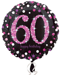 Anagram - 18 inch Circle Foil Balloon - Pink Celebration 60th Birthday - Cover