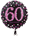 Anagram - 18 inch Circle Foil Balloon - Pink Celebration 60th Birthday Cover