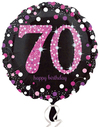 Anagram - 18 inch Circle Foil Balloon - Pink Celebration 70th Birthday Cover