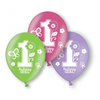 Amscan - Sweet 1st Birthday Girl - Latex Balloons (Pack of 6) Cover