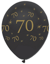Creative Party - Black and Gold 12 inch Latex Balloons - 70 All Round Print (Pack of 6) Cover