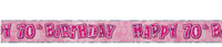Unique Party - Pink Glitz Foil Banner - 70th Birthday - Cover