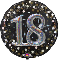 Anagram - Supershape Foil Balloon - Sparkling 18th Birthday - Cover
