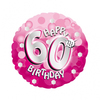 Anagram - 18 inch Holo Everts Foil Balloon - 60th Birthday - Pink Cover