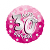 Anagram - 18 inch Holo Everts Foil Balloon - 30th Birthday - Pink Cover