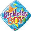 Qualatex - 18 inch Diamond Foil Balloon - Birthday Boy Stars