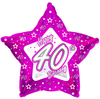 Creative Party - 18 inch Pink Star Balloon - Age 40 Cover