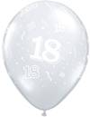 Qualatex - 11 inch Clear Latex Balloon - 18 Around (Pack of 50)