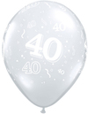 Qualatex - 11 inch Clear Latex Balloon - 40 Around (Pack of 50)