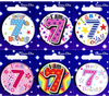 Simon Elvin - Small Badge - Age 7 (Pack of 6)