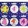 Simon Elvin - Small Badge - Age 4 (Pack of 6)