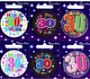 Simon Elvin - Small Badge - Age 30 (Pack of 6)