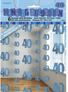 Unique Party - 5 Foot Blue String Decorations - 40th Birthday (Pack of 6) Cover