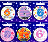 Simon Elvin - Small Badge - Age 6 (Pack of 6)