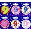 Simon Elvin - Small Badge - Age 9 (Pack of 6)