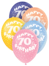 Unique Party - 12 inch Latex Balloon - 70th Birthday (Pack of 5) Cover