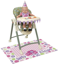 Unique Party - 1st Birthday High Chair Kit - Ladybug - Cover