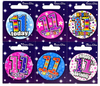 Simon Elvin - Small Badge - Age 11 (Pack of 6)