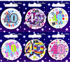 Simon Elvin - Small Badge - Age 40 (Pack of 6)