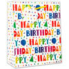 Simon Elvin - Standard Medium Gift Bags - Contemporary Font Happy Birthday (Pack of 6)