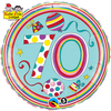Qualatex - 18 inch Round Rachel Ellen Foil Balloon - 70th Birthday - Polka Dots & Stripes Cover