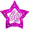 Creative Party - 18 inch Pink Star Balloon - Age 60