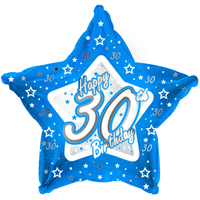 Creative Party - 18 inch Blue Star Balloon - Age 30 - Cover