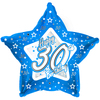 Creative Party - 18 inch Blue Star Balloon - Age 30 Cover