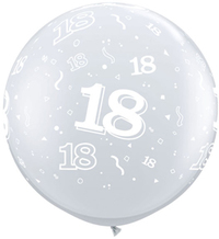 Qualatex - 3 Foot Clear Latex Balloon - 18th Birthday Around (Pack of 2) - Cover