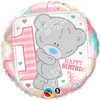 Qualatex - 18 inch Round Foil Balloon - Me to You - 1st Birthday Girl Cover