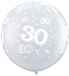 Qualatex - 3 Foot Clear Latex Balloon - 30th Birthday Around (Pack of 2) Cover