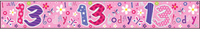 Simon Elvin - Holographic Foil Banner - I Am 13 Today - Pink - Cover